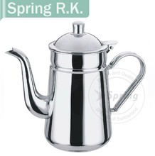 Mirror polishing wholesale Long handle cool and belly stainless steel water pot