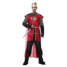 Royal Noble Renaissance Medieval knight King Arthur Men Adult Party Fancy Dress Costume QAMC-2159