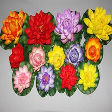 Simulación de espuma PU los fabricantes que venden loto falsa flores de loto decorado navidad decoraciones en el año nuevo