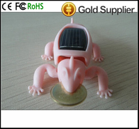 wholesale Solar Toys Solar send gold chameleon, wholesale energy saving and environmental protection solar toys, promotion solar