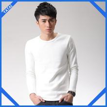 newest style 100% Cotton Men's plain long sleeve T shirt