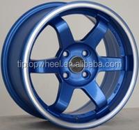 machine groove on lip guangzhou wheel 17 inch car wheel 4x114.3 rim