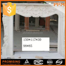 Cheap White Marble Decorative fireplaces and stoves