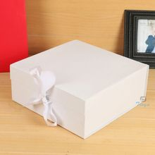 custom printed white paper covered boxes