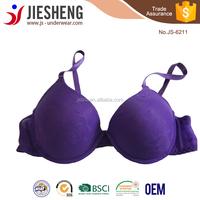 Free big size fancy underwear bra sample from China manufacturer JS6211