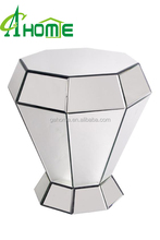 DIAMOND MIRROR SIDE TABLE