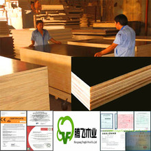 brown laminated plywood/waterproof plywood 20mm/construction material