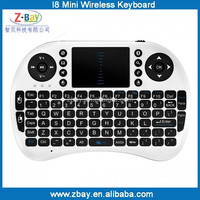 hot selling 2.4G wireless mini air mouse keyboard with touch pad