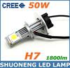 New Product 6000k 50W 12V 24V 1800lm Auto Led Light for Car, Car Accessories Led Bulb Lights, High Power Led Headlight Bulb H7