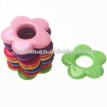 Venta al por mayor cuentas chunky, sólido de acrílico cuentas de flores de color mezclado, 30mm
