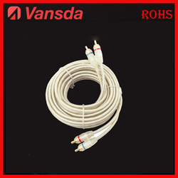 3.5mm high end twisted braid CCA/soft car audio Rca Cable