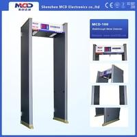 Walkthrough gate with 6 zones, door access control system metal detector door