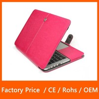 High Quality Ultra Slim Folio Leather Case For MacBook Air With Keyboard Protector