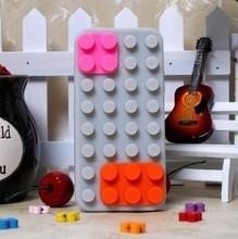 custom ecofriendly lego silicon case for iphone 5