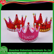 Customized Stage Decorations Waterproof Plastic Led Kings Crown