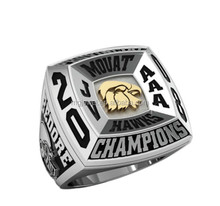 Youth baseball championship rings with 3D Mock up offered