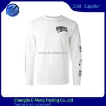 Long Sleeves New Designed Printed Custom T shirt O-neck
