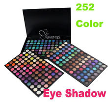 create your own brand eye shadows Palette with 252 color eyeshadow&lipstick palette