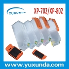 Com Auto de reset chip de recarga de cartuchos de tinta para Epson XP702/XP802
