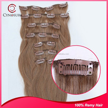 Remy Indian hair unprocessed natural raw Indian hair can be bleached and dyed clip in extension