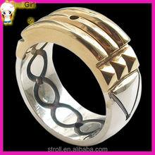 2015 spiritual adult power gold ring 925 sterling silver 4 gram gold Atlantis ring - gold ring designs for men