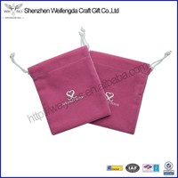 Promotion Fashion Handmade Printed Velvet Jewelry Pouches