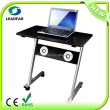 Multifunctional multimedia MDF laptop table on wheels