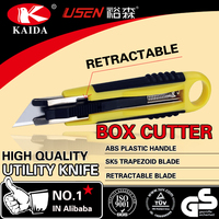 Promotional box cutter auto retractable safety utility knife