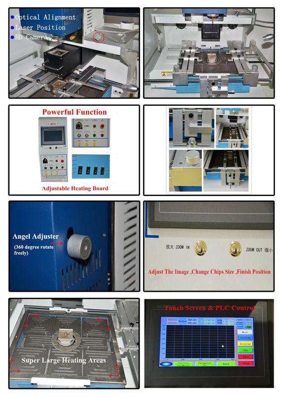 Горячая Автоматическая Темный Инфракрасная Паяльная Станция Паяльная С Оптической Системой Выравнивания ПРОТИВ ir6000