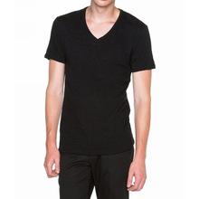 New products Hot sale 100 cotton plain v neck t-shirt for men