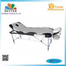 Better 3 sections folding aluminium massage table,massage bed,used massage equipment for sale