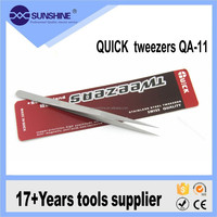QA-11 Mobile phone repairing tools stainless steel sharp tweezers