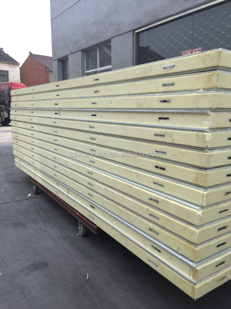 Structural pu insulated sandwich panels for cold room for Structural insulated panels prices