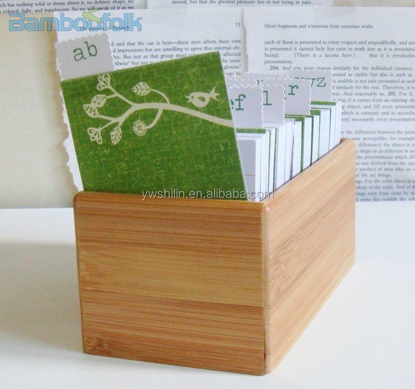 Bambou bureau note boîte de rangement / bambou a4 fichier dossier ...