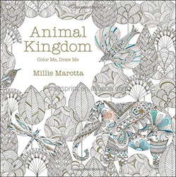 Animal kingdom Coloring Book set with crayons