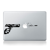 Modern Design Cute Gun Styling Vinyl Decal Sticr Skin for Apple Laptop for MacBook Air Pro 11 13 15 Computer Wall Decor