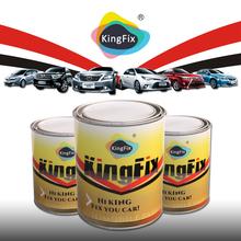 KINGFX Brand 1K solid colors black metallic car paint color
