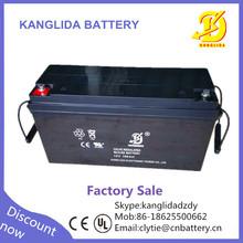 sealed lead acid 12 volts 150ah storage solar battery