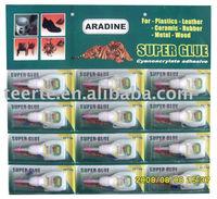 5g Super GLue ,Specilized for Plastics,Leathers,Ceramics , 12pcs/card