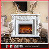 2015 Romantic freestanding indoor used marble fireplace