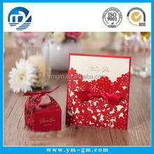 Customzied design paper graduation party greeting invitation card for souvenirs