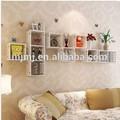 venta al por mayor moderno estilo decorativo de la pared del cubo con estante estante de exhibición en los muebles