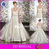 XL332 Cap Sleeve Customized Design Beaded Sash Open Back Ball Gown Wedding Dress Patterns