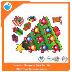 2015 Hot Sale Christmas Ornament Window Clings Decals