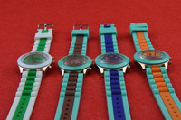 Candy-colorful Silicone couple of style quartz watches,hot sell silicone wrist watch