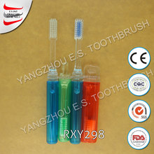wholesale FDA disposable cheap hotel toothbrushes travel toothbrush with case
