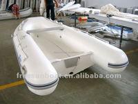 CE Certification Iflatable Fishing Boat with Rigid Fiberglass Bottom Fiberglass RIB Boat