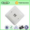 European Convenient Electrical USB Wall Socket