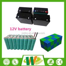 Long life cycle LED lighting 12V Lifepo4 rechargeable battery