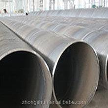 Espiral soldada tubería de acero al carbono API 5L estándar, Iso9001 : 2008 certificado